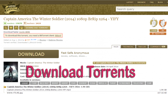How to Use and Download from Kickass Torrents