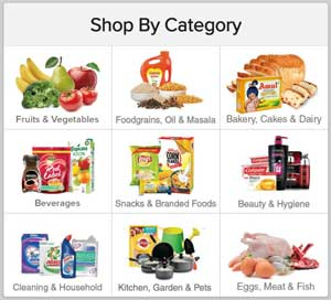 BigBasket shop by category page