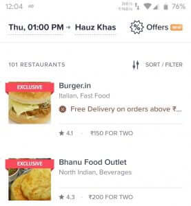 Swiggy Front Page