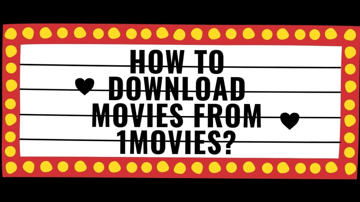 Banner giving details on how to download movies from 1Movies